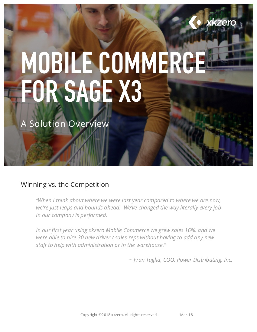 Mobile commerce for Sage