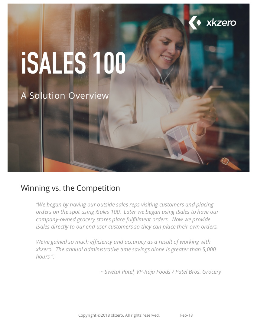 iSales solution overview