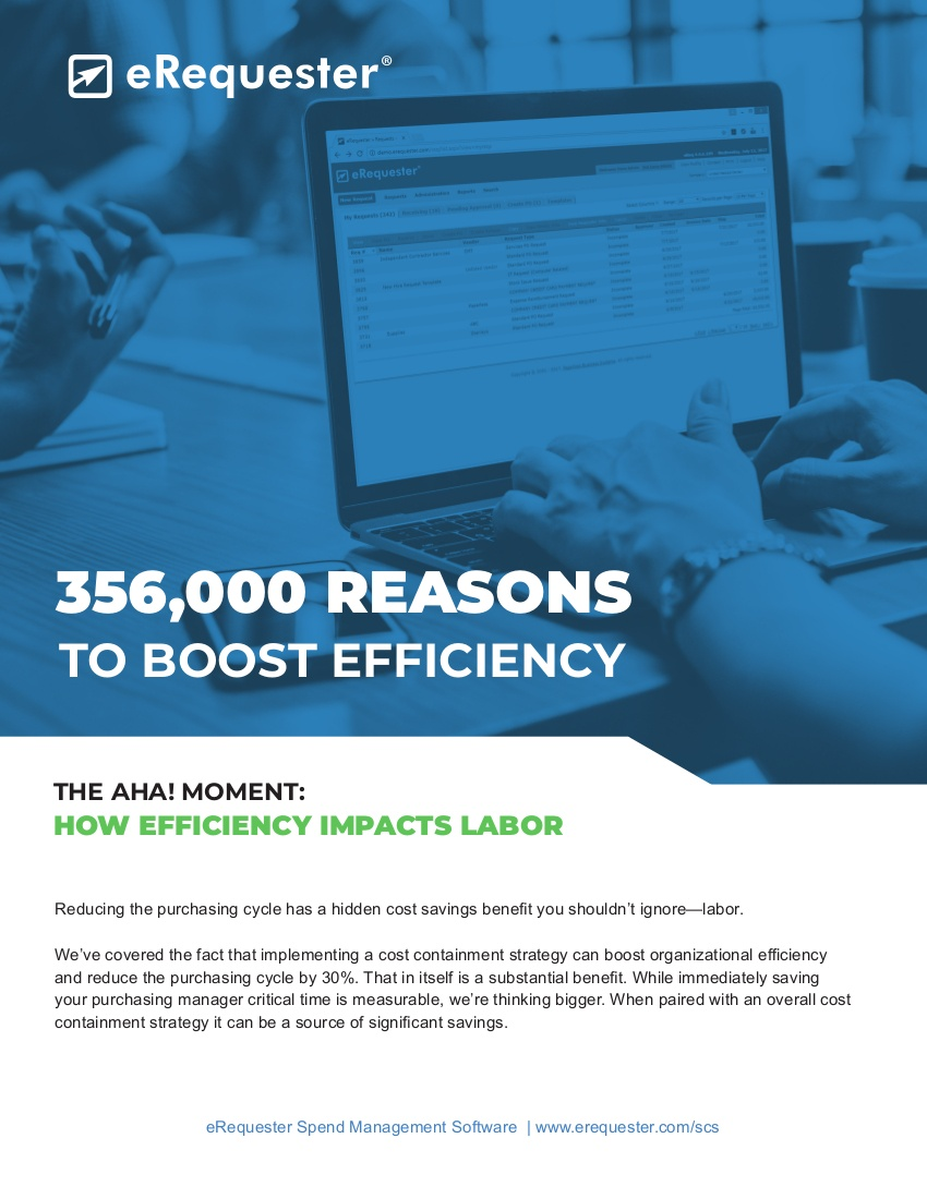 356000 Reasons to Boost Efficiency