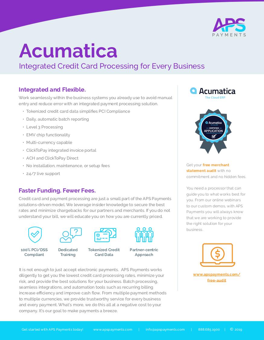 APS Acumatica Datasheet