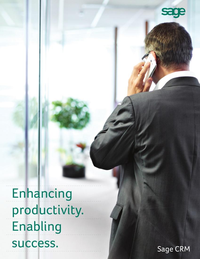 Sage CRM updates brochure