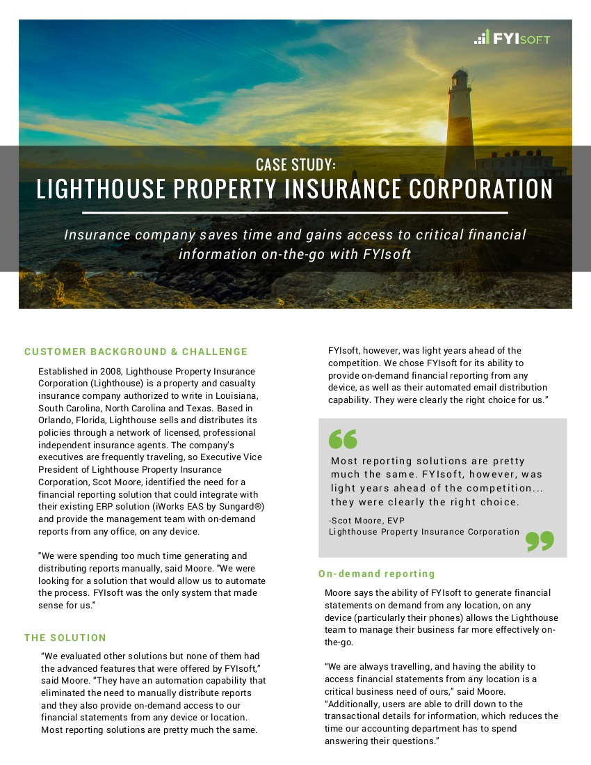 lighthouse property insurance corp case study