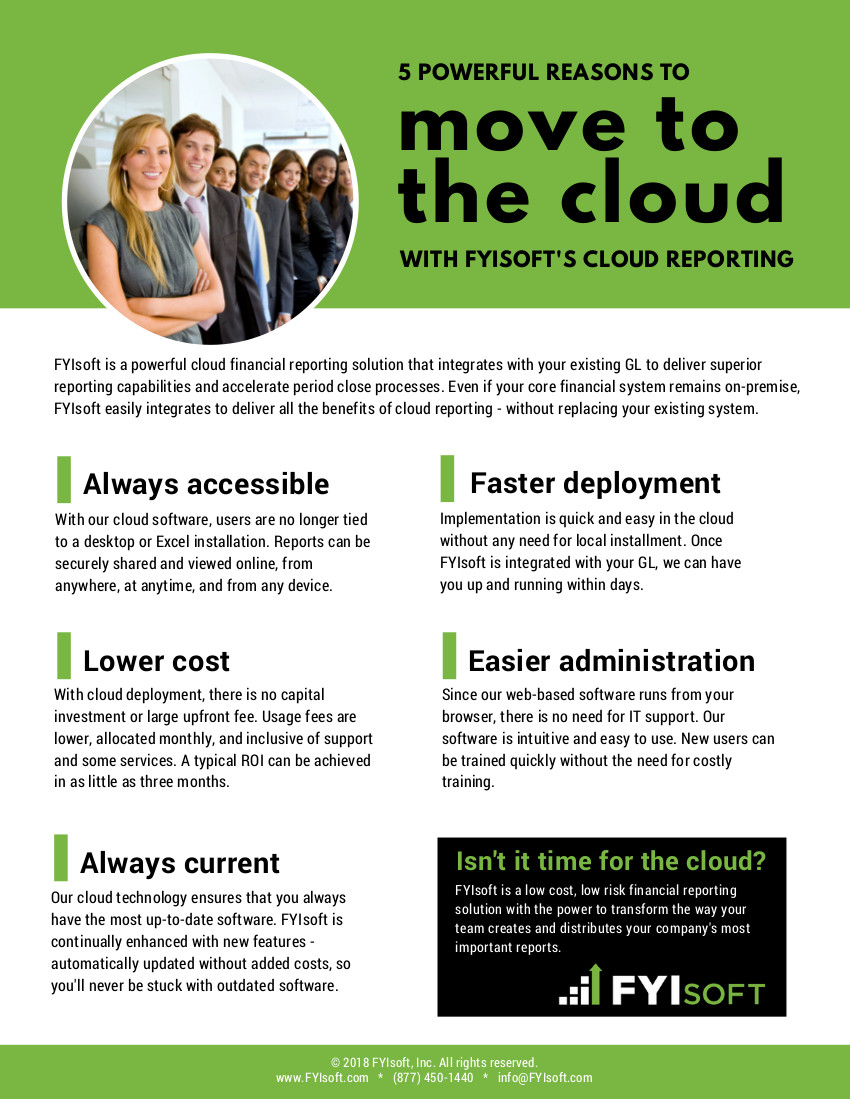 fyisoft benefits of the cloud brochure