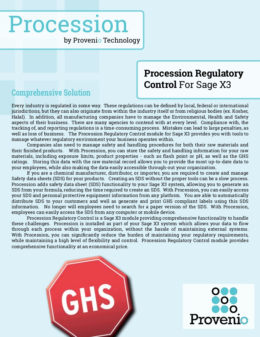 regulatory control flier