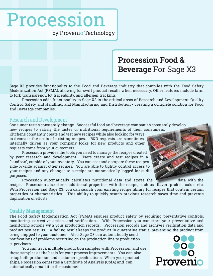 food and beverage flier