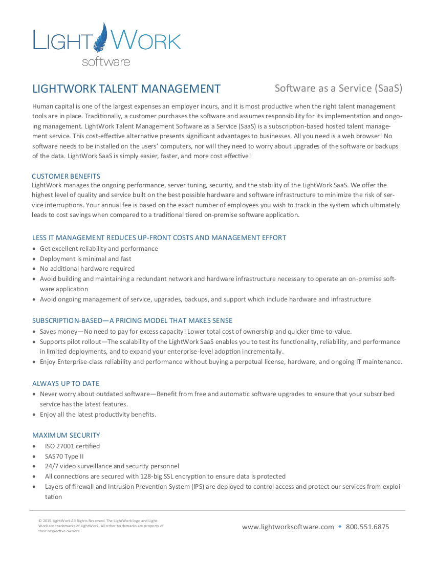 LightWork saas pdf
