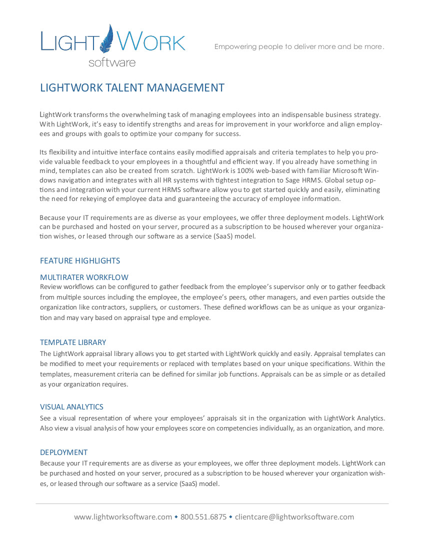 LightWork TM pdf