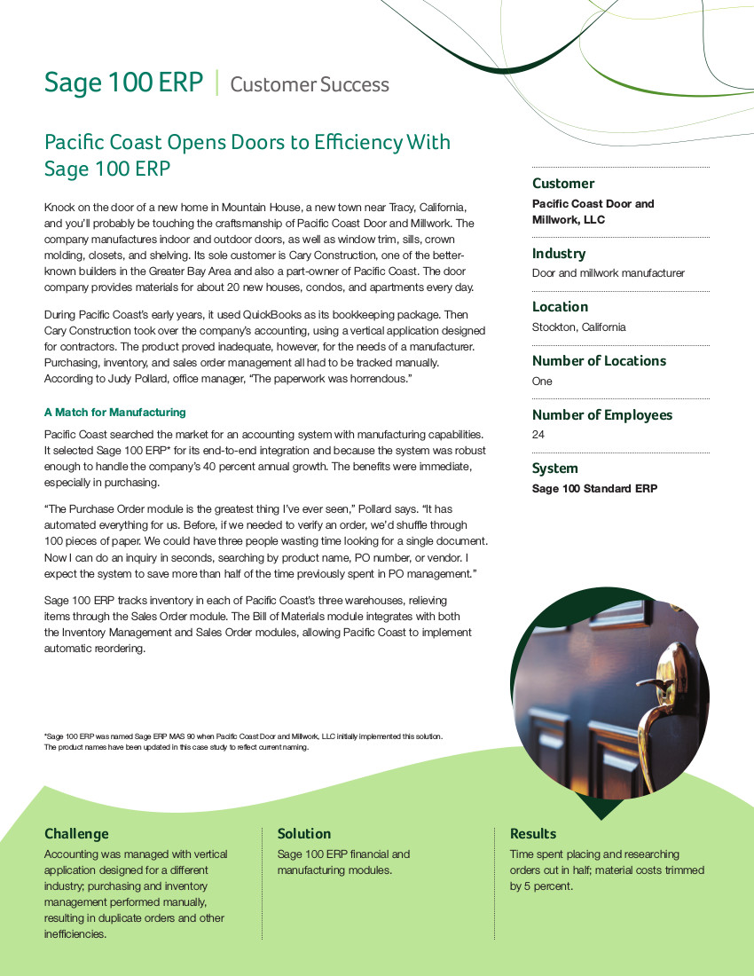 pacific coast case study