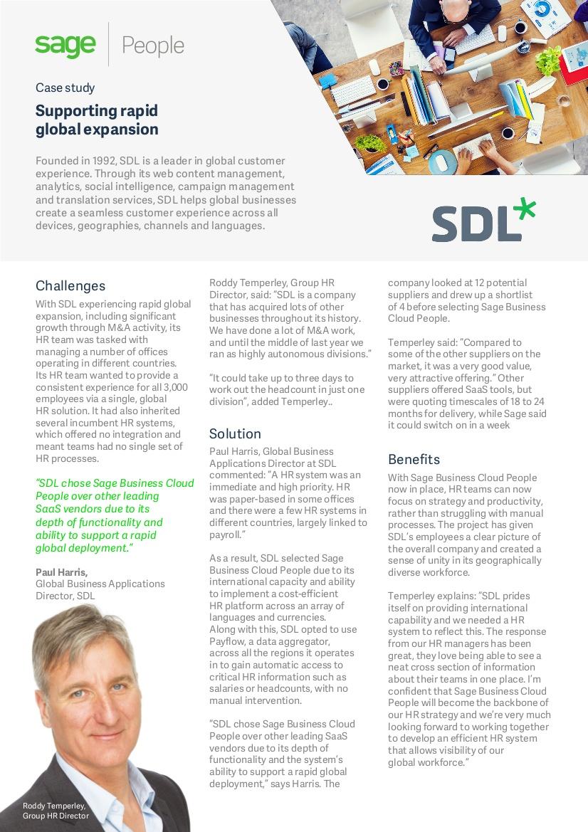 sdl case study