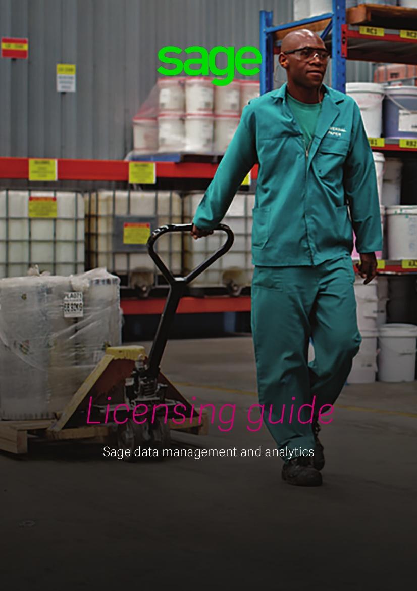 Sage EM Data Analytics Licensing Guide