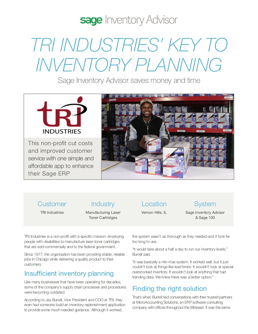 tri industries success story