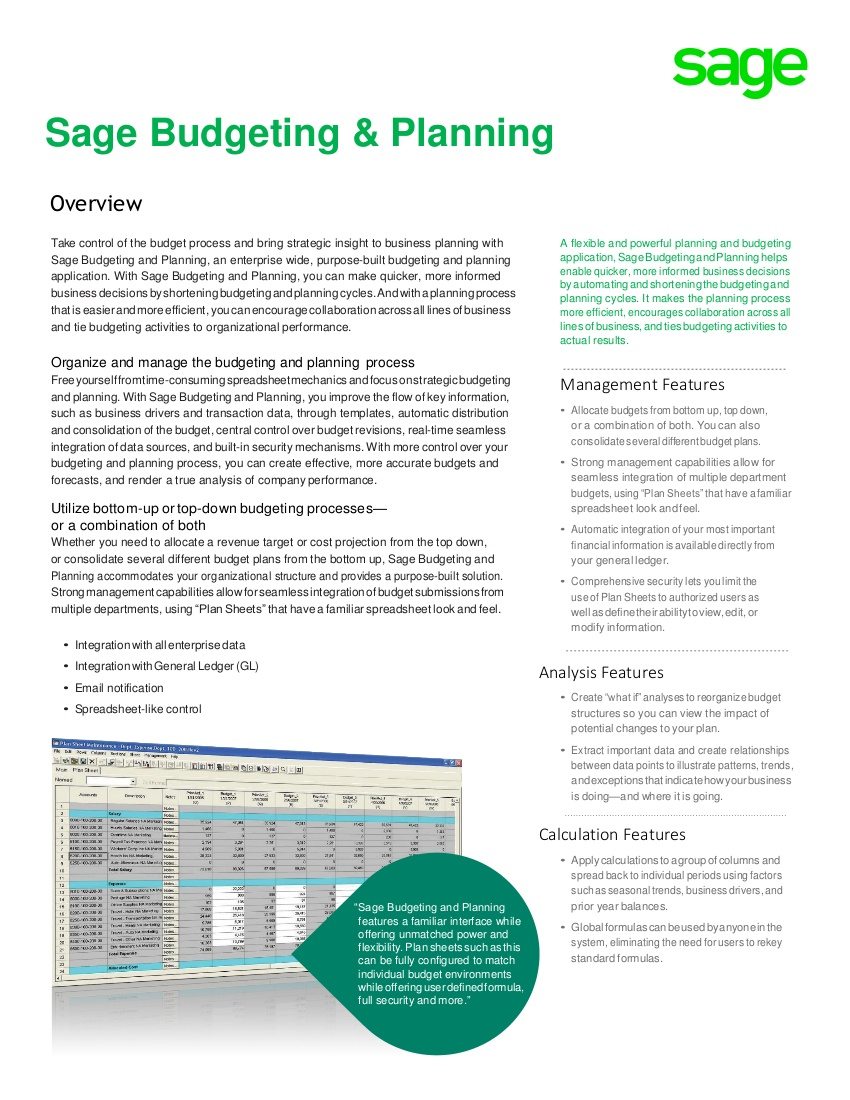 sage budgeting download
