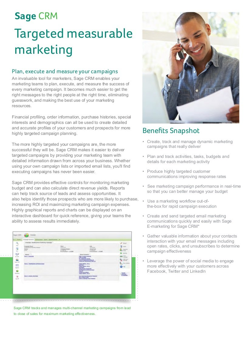 sage crm for marketing