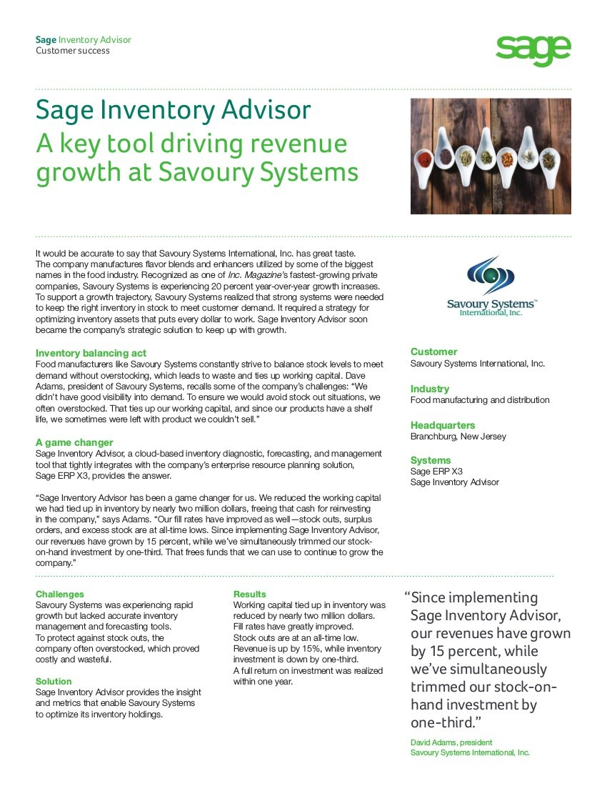savoury systems success story