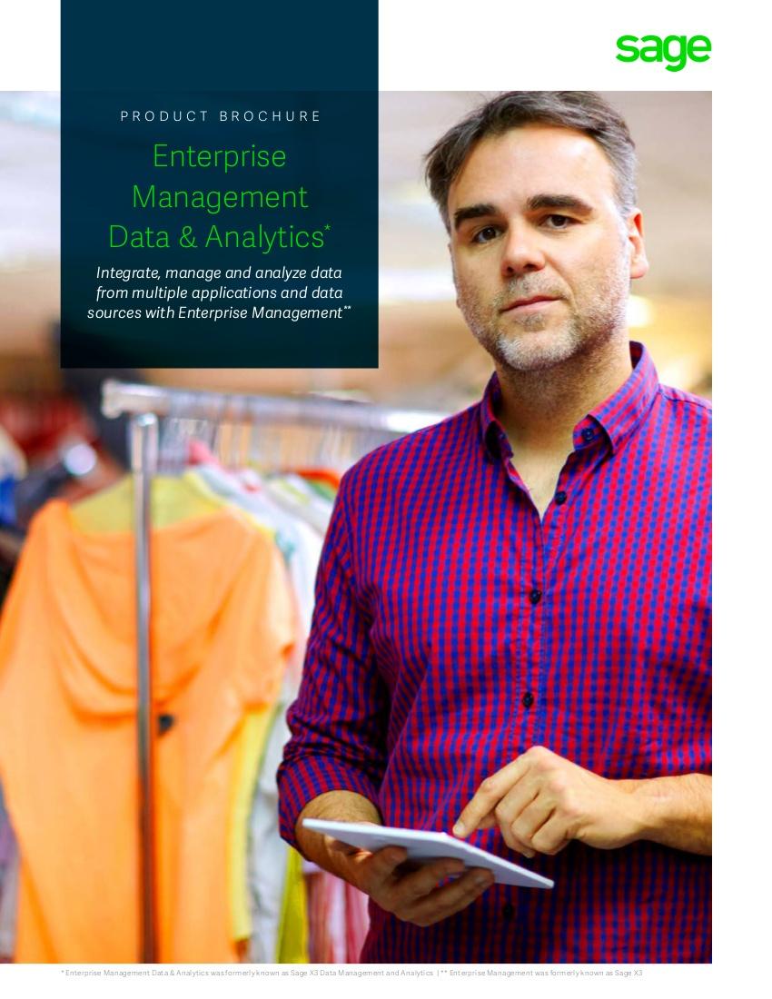 Sage EM Data Analytics Brochure