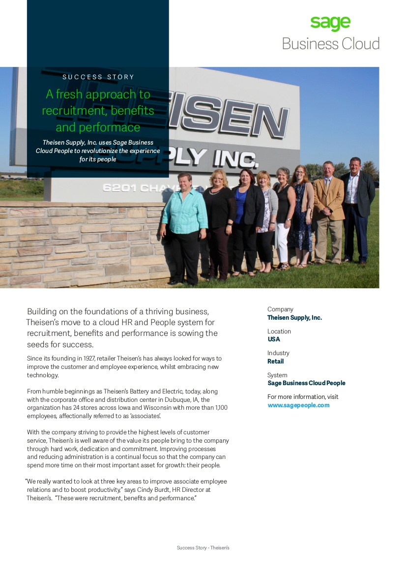 Theisens success story