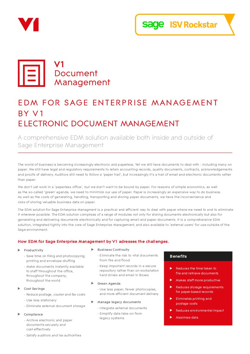 EPM for Sage Product Sheet